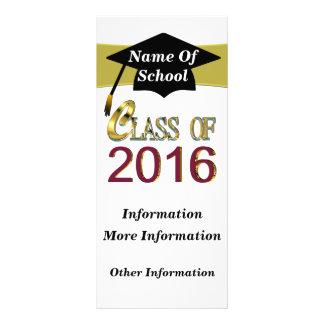 Clase del oro de 2016 tarjetas del estante plantillas de lonas