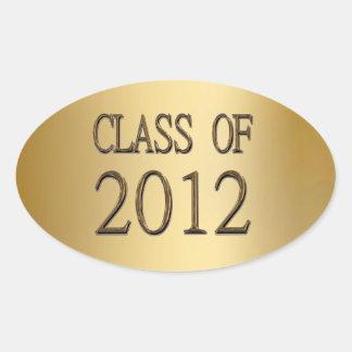 Clase del oro de los pegatinas 2012 del sello de colcomanias oval