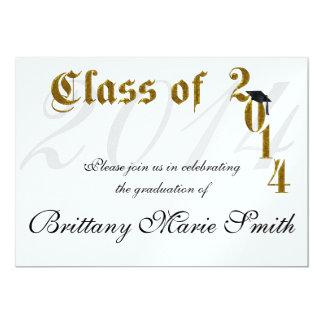 Clase del oro del graduado 2014 anuncios