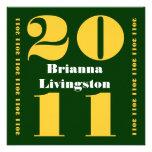 Clase del oro verde 2011 de la graduación comunicados personales
