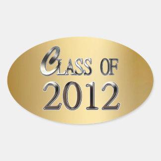 Clase del oro y de la plata de los pegatinas 2012 pegatinas de óval