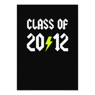 """Clase del perno amarillo 2012 de la graduación invitación 5"""" x 7"""""""