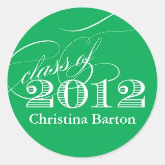 ¡Clase del personalizar 2012 de la etiqueta engoma