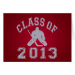 Clase del portero 2013 del hockey felicitacion