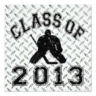 """Clase del portero 2013 del hockey invitación 5.25"""" x 5.25"""""""