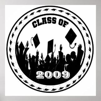 Clase del poster 2009 usted elige BkGrd el año col