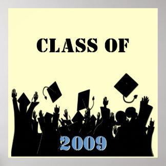 Clase del poster 2009 usted elige BkGrd/el año/col