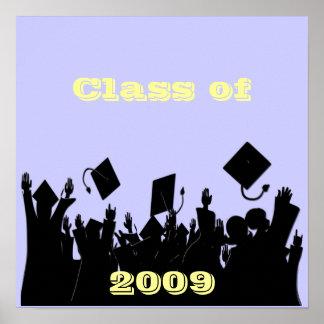Clase del poster 2009 usted elige BkGrd la fuente