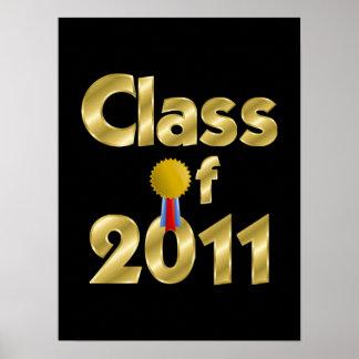 Clase del poster 2011 del oro