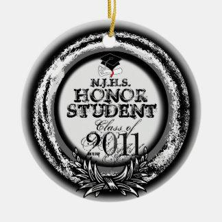 Clase del premio del estudiante del honor de plata adorno de navidad