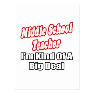 Clase del profesor de escuela secundaria… de una tarjetas postales