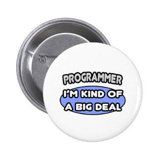 Clase del programador… de una gran cosa pin redondo 5 cm