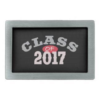 Clase del rojo 2017 hebilla de cinturón rectangular