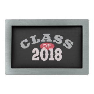 Clase del rojo 2018 hebilla cinturón rectangular