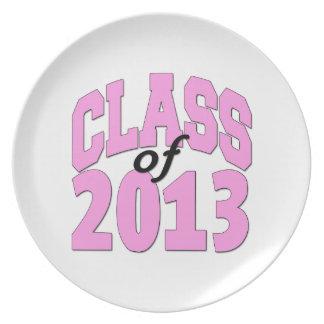 Clase del rosa 2013 plato de cena