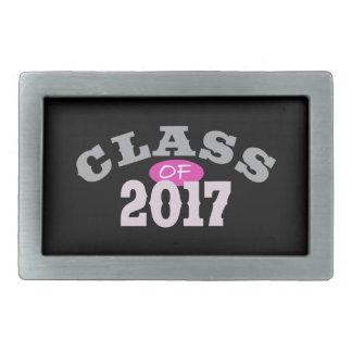 Clase del rosa 2017 hebilla de cinturón rectangular