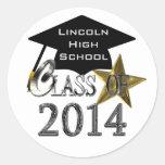 Clase del sello 2014/de pegatinas de la graduación