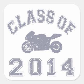 Clase del Superbike 2014 - gris 2 Pegatina Cuadrada