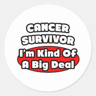 Clase del superviviente del cáncer… de una gran pegatina redonda