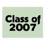 Clase del verde 2007 postal