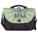 Clase del verde 2014 y de plata bolsa de ordenador