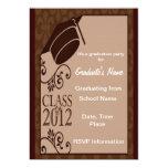 Clase del vintage de 2012 invitaciones invitacion personal