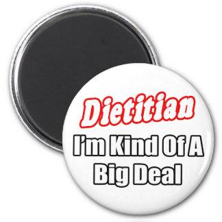 Clase el dietético… de una gran cosa imán redondo 5 cm