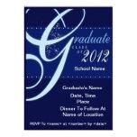 Clase elegante azul de las invitaciones 2012 de la anuncios