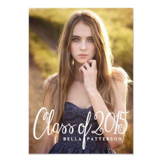 """Clase elegante de la fiesta de graduación 2015 de invitación 5"""" x 7"""""""