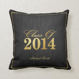 Clase elegante del negro y del oro de 2014 almohada