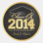 Clase elegante del negro y del oro de 2014 pegatinas