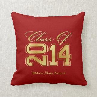 Clase elegante del rojo y del oro de 2014 almohadas