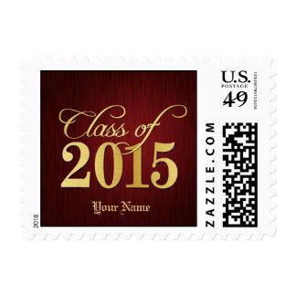 Clase elegante del rojo y del oro de 2015 sellos