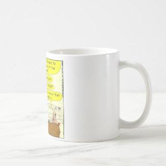 Clase en dibujo animado del color de la gestión de taza