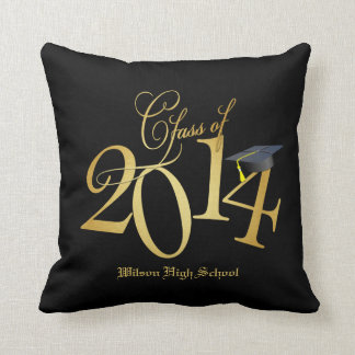 Clase enrrollada del negro y del oro de 2014 almohadas