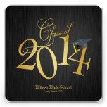 Clase enrrollada del oro de la graduación 2014 comunicados personales