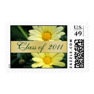 Clase floral de la margarita amarilla de franqueo  timbres postales