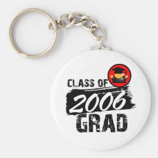 Clase fresca del graduado 2006 llaveros