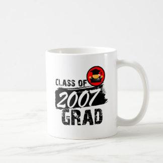 Clase fresca del graduado 2007 tazas
