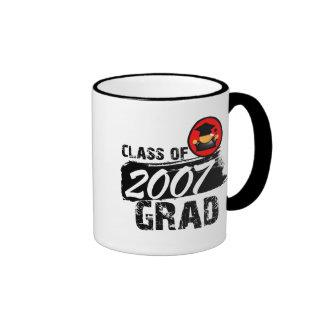 Clase fresca del graduado 2007 taza de café