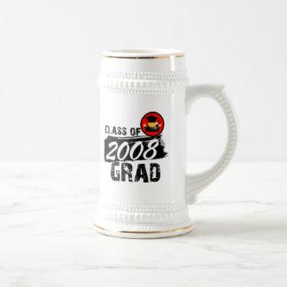 Clase fresca del graduado 2008 jarra de cerveza