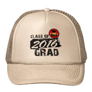 Clase fresca del graduado 2016 gorro