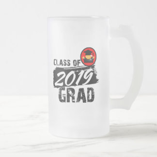 Clase fresca del graduado 2019 taza de cristal