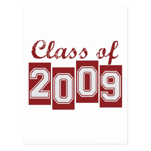Clase graduada de 2009 postal