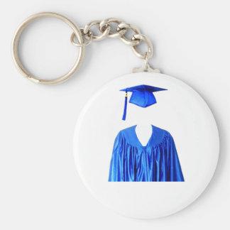 Clase graduada del casquillo y del vestido Templat Llavero Personalizado