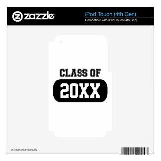 """""""Clase"""" graduado adaptable de 20XX iPod Touch 4G Skin"""
