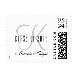 Clase gris del monograma del sello 2015 de la
