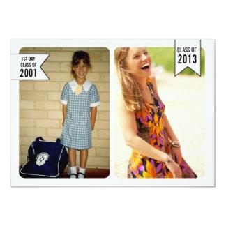 Clase joven y vieja de la graduación de la foto de invitación 11,4 x 15,8 cm