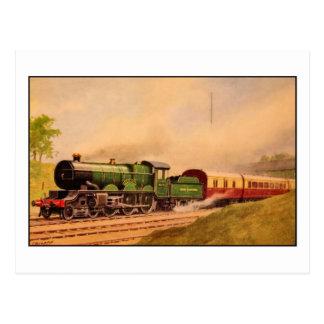 Clase locomotora de Caerphilly del vintage de la Tarjetas Postales