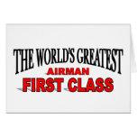 Clase más grande del aviador del mundo la primera tarjetas